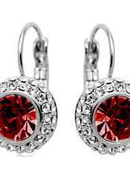 Hoop Earrings Crystal Rhinestone Alloy Fashion Jewelry Daily 1pc