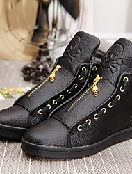 Men's Sneakers Light Soles TPU Fall Winter Athletic Casual Outdoor Light Soles Low Heel Black White Under 1in