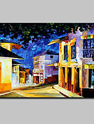Hand Painted City Landscape Oil Painting On Canvas Modern Abstract Wall Art Picture For Home Decoration Ready To Hang