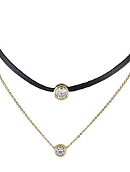 Women's Choker Necklaces Tattoo Choker Alloy Jewelry Basic Tattoo Style Fashion Gold Jewelry Casual 1pc