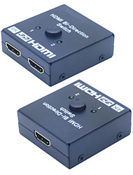 3D HDMI Bi-direction 2x1 Switch Switcher or 1x2 Splitter Selector A-B AB A/B Switch Switcher 4Kx2K