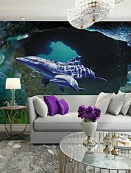 3D Fondo de pantalla Para el hogar Contemporáneo Revestimiento de pared , Lienzo Material adhesiva requerida Mural , Revestimiento de