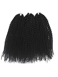 Island Twist Pre-loop Crochet Braids Dark Black Hair Extensions 16Inch Kanekalon 1 Package For Full Head 148g gram Hair Braids