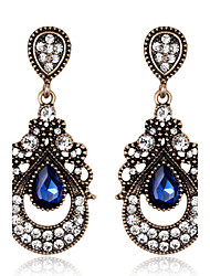 Drop Earrings Sapphire Crystal Simulated Diamond Dark Blue Jewelry Wedding Party Daily 1 pair