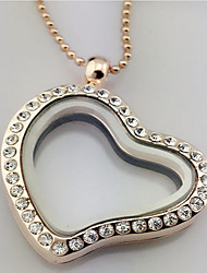 Necklace Pendant Necklaces Jewelry Party Casual Valentine Heart Basic Design Heart Alloy Women 1pc Gift Gold