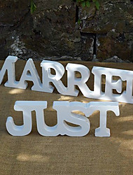 Europe and the United States wooden just I wedding supplies Wooden furnishing articles in English letters Wedding photography props