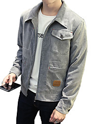 Men's Casual/Daily Work Sports Simple Street chic Active Jacket,Solid Square Neck Long Sleeve Spring Wash separately Polyester Nylon