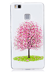 For Glow in the Dark IMD  Pattern Case Back Cover Case Pink small tree  Soft TPU for Huawei Huawei P9 Lite   Huawei P8 Lite