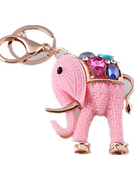 Key Chain Elephant Key Chain Pink Metal