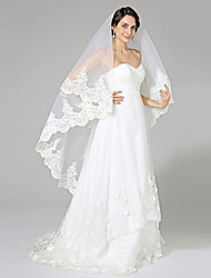 Wedding Veil One-tier Fingertip Veils Net