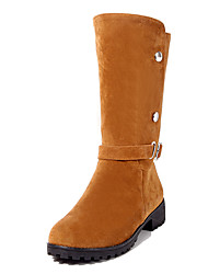 Women's Boots Winter Others Leatherette Dress / Casual Low Heel Buckle Black / Yellow / Red Others
