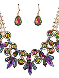 Jewelry 1 Necklace / 1 Pair of Earrings Rhinestone / Crystal Wedding / Party 1set Women Alloy Western Style Multicolor / White / Gray Wedding Gifts