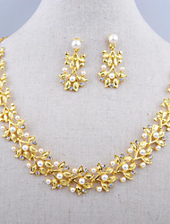 Jewelry 1 Necklace 1 Pair of Earrings Pearl Daily Pearl 1set Women Gold Silver Wedding Gifts