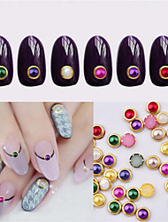 1 Box Nail Art Act The Role Ofing Is Tasted Metal Package Edge Color Pearls