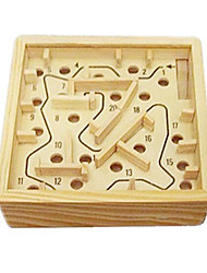 Stress Relievers / Building Blocks Novelty Toy Toys Novelty Square Wood Khaki For Boys / For Girls