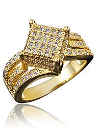 Micro Setting Inlay Zircon Gold Plating Wedding Ring for Women