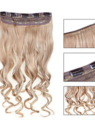 Clip in On Hair Extensions Wavy Clip On Hairpieces 18/613#