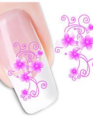1sheet  Water Transfer Nail Art Sticker Decal XF1442