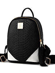 M.Plus® Women's Fashion Splicing Snake Print PU Leather Backpack