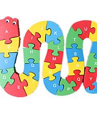 Puzzles Puzzle Building Blocks DIY Toys Serpent 1 Bois Arc-en-ciel