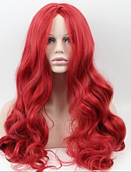 Asia - Pacific Fashion Red Ladies Long Hair In The Sub - Liu Haiguang High Temperature Wire Wig