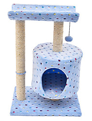 Cat Bed Pet Mats & Pads Casual/Daily Blue Textile
