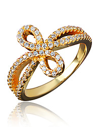 Birthday Gift Girl's Gold Plating Brand Ring