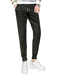 Men's Plus Size Slim / Skinny Chinos / Sweatpants Pants,Casual/Daily / Work / Club Simple / Street chic / Active Solid Low RiseDrawstring