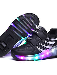 LED Light Up,Unisex Kid Boy Girl Double Wheel Sneaker Athletic Shoes Sport Shoes Roller Shoes Dance Boot Roller Skates Sneakers Rollerskates