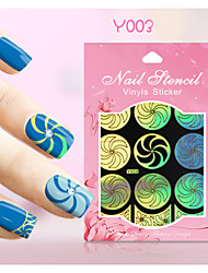 New Nail Art Hollow Stickers Colorful Flower Heart Ancient Coins Image  Design  Nail Art Beauty Y001-010