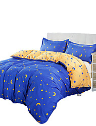 Mingjie Star and Moon Bedding Sets 4PCS for Twin Full QueenSize from China Contian 1 Duvet Cover 1 Flatsheet 2 Pillowcases