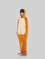 kigurumi Pyjamas Tiger Collant/Combinaison Fête / Célébration Pyjamas Animale Halloween Orange Mosaïque Kigurumi Pour EnfantHalloween