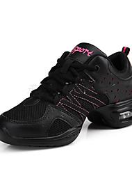 Chaussures de danse(Noir / Blanc) -Non Personnalisables-Talon Bottier-Tissu-Moderne