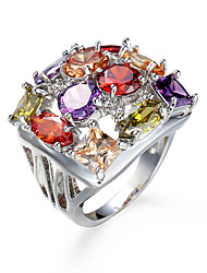 Hot Sale Classic female Luxury Ring Big Crown Colorfull Zircon Women Jewelry Rings Size 6-10