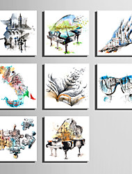 E-HOME® Stretched Canvas Art Water Color Fantasy Series Decoration Painting MINI SIZE One Pcs