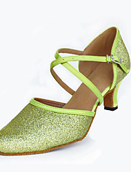 Customizable Women's suede sole Dance Shoes Modern / Salsa / Latin /Swing Shoes  Heel Black Latin / Dance Sneakers / Tap