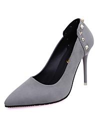 Women's Wedding Shoes Fashion High Heels Comfort Suede Party & Evening / Dress Stiletto Heel Rivet / Slip-on