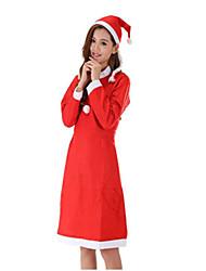 Costumes de Cosplay Costumes de père noël Fête / Célébration Déguisement Halloween Rouge / Blanc Couleur Pleine Robe / Plus d'accessoires