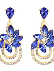 Drop Earrings Sapphire Crystal Rhinestone Royal Blue Jewelry Wedding Party Daily 1 pair