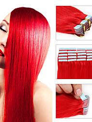 atacado remy extensões de cabelo fita 20pcs / lot fita 16-24inch no cabelo cabelo pele trama extensão do cabelo humano em linha reta