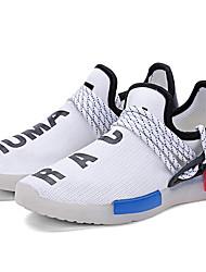 Черный Белый-Унисекс-Для прогулок Повседневный Для занятий спортом-Тюль-На плоской подошве-Оригинальная обувь Light Up обувь Удобная обувь