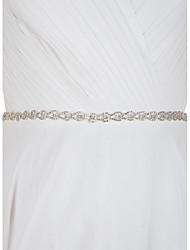 Satin Hochzeit Party / Abend Alltagskleidung Schärpe-Strass Damen 250cm Strass