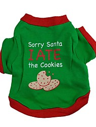 Dog Shirt / T-Shirt Green Dog Clothes Winter / Summer Letter & Number Cute / Fashion / Christmas