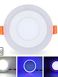 6w + 3w 3model llevó la lámpara de luz del panel de color doble LED luces de techo empotradas iluminación interior