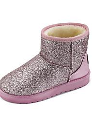 Women's Boots Winter Platform Glitter Casual Flat Heel Platform Sequin Black Pink Silver Walking