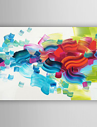 Hand-Painted  Abstract Colour Lump  Canvas Oil Painting With Stretcher For Home Decoration Ready to Hang