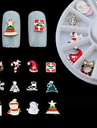 Encantador - Dedo - Calcomanías de Uñas 3D / Joyas de Uñas - Metal - 1box - 6CM - (cm)