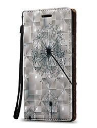 Pour Portefeuille / Porte Carte Coque Coque Intégrale Coque Pissenlit Dur Cuir PU pour Huawei Huawei P9 Lite