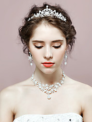 Jewelry 1 Necklace / 1 Pair of Earrings / 1 Hair Jewelry Imitation Pearl / Rhinestone Wedding / Party 1set Women As Per PictureWedding