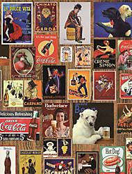 JAMMORY Art Deco Wallpaper Retro Wall CoveringCanvas Large Mural PostersXL XXL XXXL